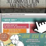 Web / FB banners for DGSQWD Multimedia Prod's workshops